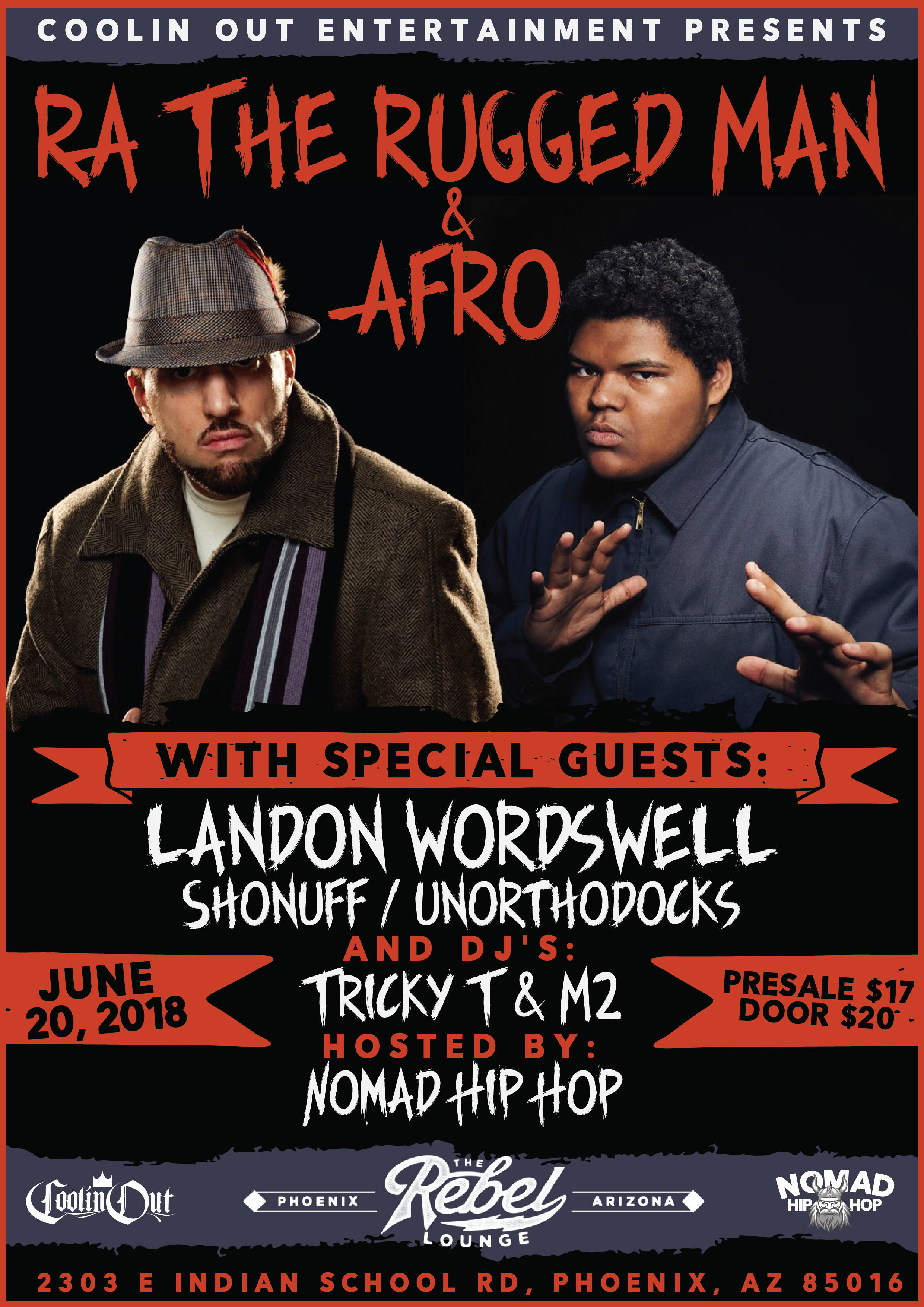 Coolin Out Presents R.A. The Rugged Man June 20th – Trill HipHop Shop
