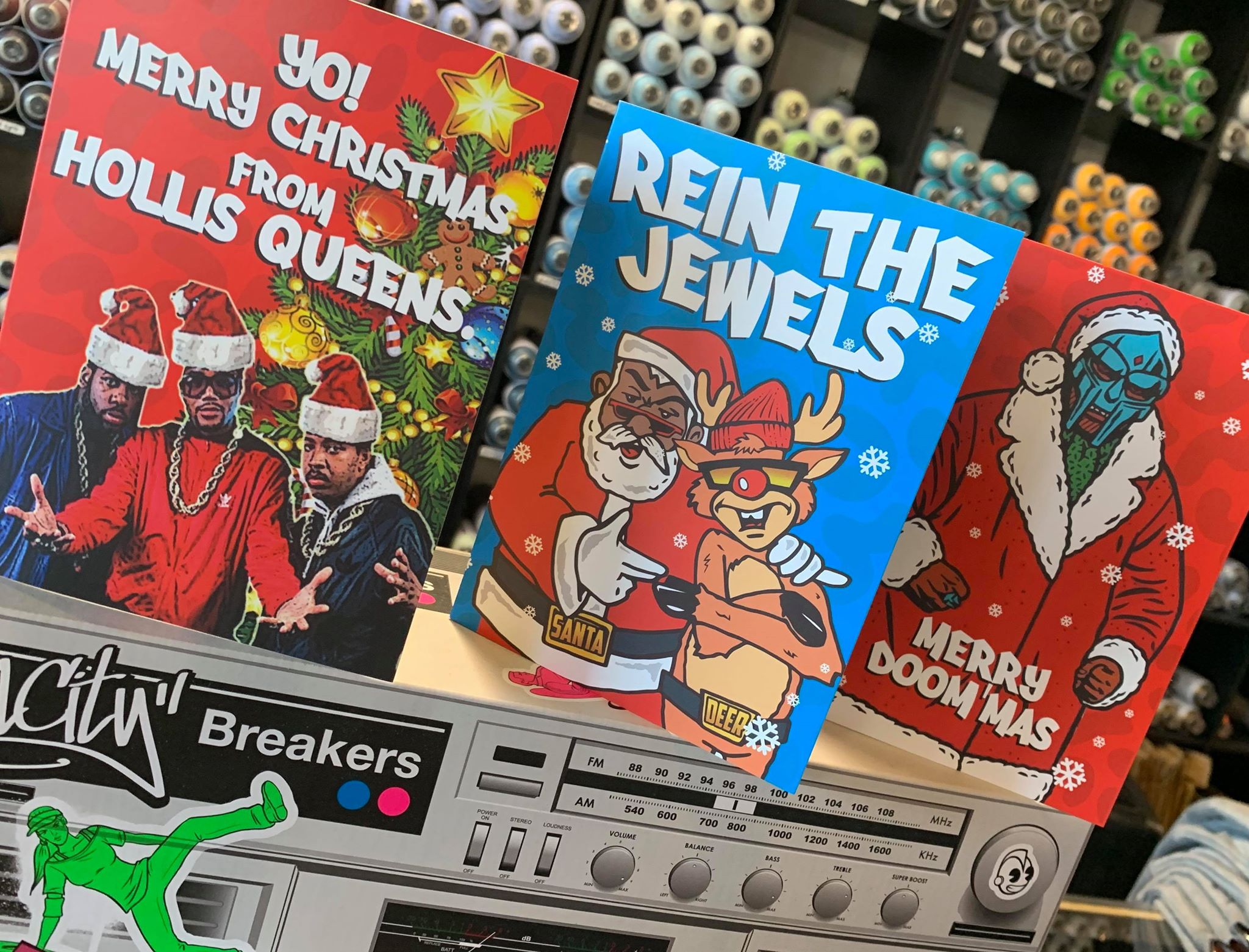 Trillmark Hip Hop Christmas Cards