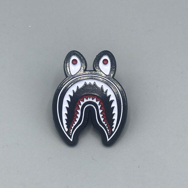 Shark Face Pin