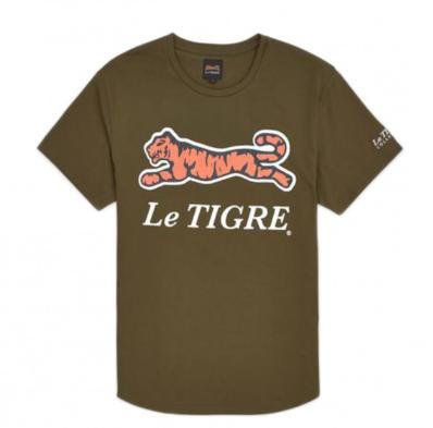 Le Tigre Classic Logo Olive Tee