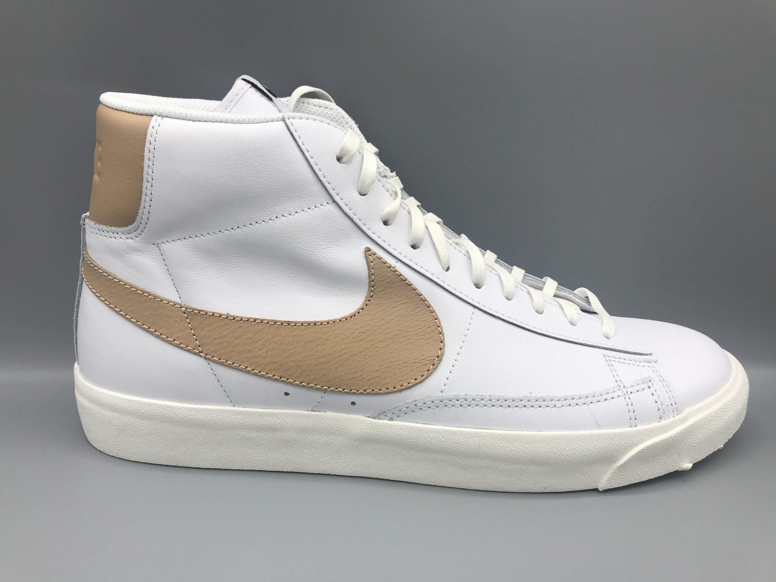 Nike Blazer Mid Premium - White / Tan - Size 11